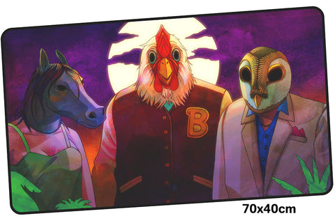 Hotline Miami Three Characters Large Mouse Pad 700x400mm Best PC Gaming Pad HD Print