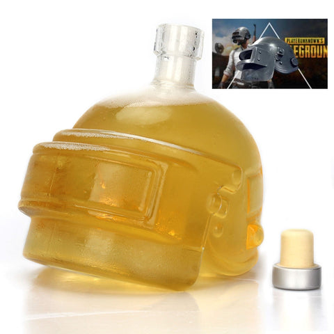 PUBG Borosilicate Glass Bottle Decanter Perfect Bar Decoration