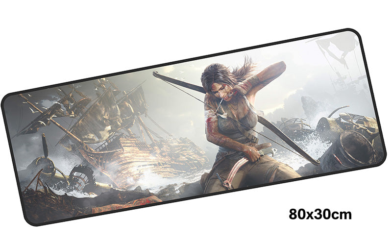 Tomb Raider Lara Applies Bandage Large Mouse Pad 800x300mm PC Gaming Pad HD Print
