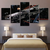 5 Panel Framed Star Wars Millennium Falcon Modern Decor Canvas Wall Art HD Print