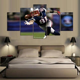 5 Panels Framed NFL Gridiron Modern Decor Canvas Wall Art HD Print