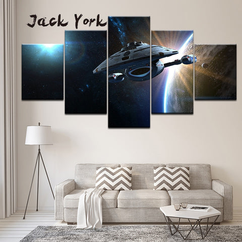 5 Panel Star Trek Voyager Modern Décor Wall Art Canvas HD Print