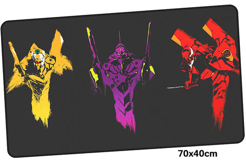 Neon Genesis Evangelion Three Colors Large Mouse Pad 700x400mm Best PC Gaming Pad HD Print