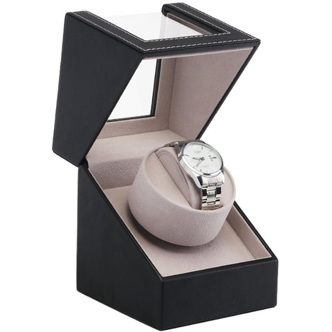Single Automatic Watch Winder Box Display Watch Organizer Case EU/US/AU/UK Plug