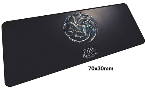 Game of Thrones Fire & Blood Large Mouse Pad 700x300mm Best PC Gaming Pad HD Print