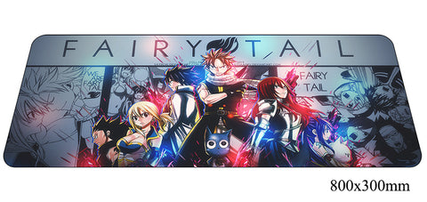 Fairy Tail Large Mouse Pad 800x300X2mm Best PC Gaming Pad HD Print