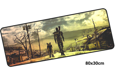 Fallout Taking Dogmeat for a Walk Giant Mouse Pad 800x300mm Best PC Gaming Pad HD Print