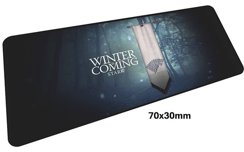 Game of Thrones Stark Banner Large Mouse Pad 700x300mm Best PC Gaming Pad HD Print
