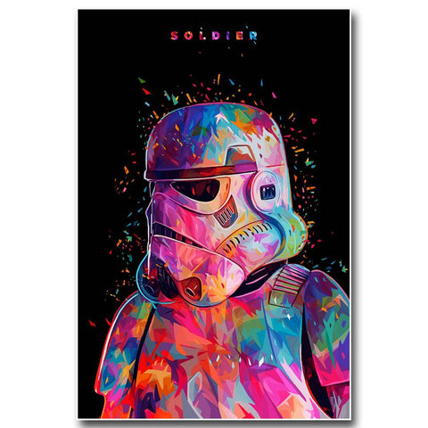 Star Wars Colorful Stoomtrooper Modern Decor Canvas Wall Art HD Print