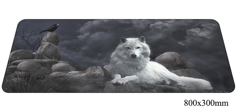 Assorted Wolf Large Mouse Pad 800x300X2mm Best PC Gaming Pad HD Print
