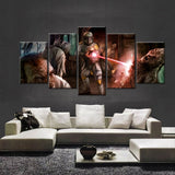 5 Panel Star Wars Boba Fett in Action Modern Decor Canvas Wall Art HD Print