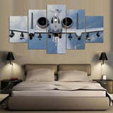 5 Panel Angry A-10 Warthog Firing Modern Décor Wall Art Canvas HD Print