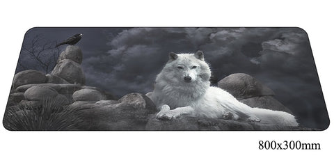 The Wolf Moon Large Mouse Pad 800x300X2mm Best PC Gaming Pad HD Print