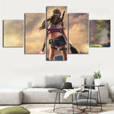 5 Panel PUBG Girl Abstract Picture Modern Décor Wall Art Canvas HD Print