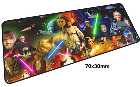 Star Wars First Six Movie Montage Large Mouse Pad 700x300mm Best PC Gaming Pad HD Print