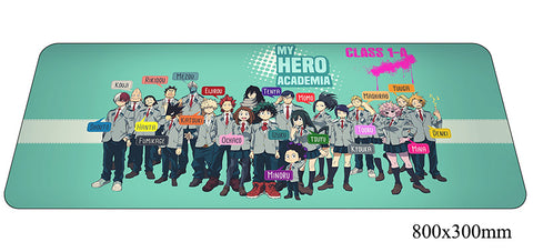 Boku No Hero Academia Class 1A Large Mouse Pad 800x300x2mm Best PC Gaming Pad HD Print
