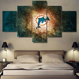 5 Panel Framed NFL Sport Gridiron Abstract Painting Modern Decor Canvas Wall Art HD Print