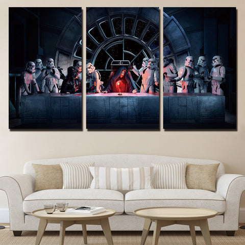 3 Panel Star Wars Stormtrooper The Last Super Modern Decor Canvas Wall Art HD Print