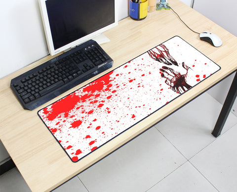 Large Bloody Mouse Pad 800x300X3MM Best PC Gaming Mousepad  HD Print