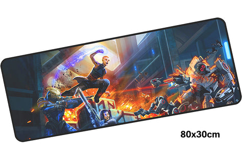 Mass Effect Fight Large Mouse Pad 800x300mm Best PC Gaming Mouse Pad HD Print