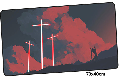 Neon Genesis Evangelion Crosses Large Mouse Pad 700x400mm Best PC Gaming Pad HD Print