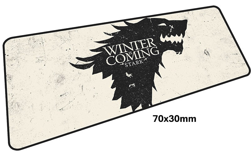 Game of Thrones Winter is Coming Stark Large Mouse Pad 700x300mm Best PC Gaming Pad HD Print