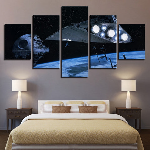5 Panel Star Wars Return of the Jedi Modern Decor Canvas Wall Art HD Print