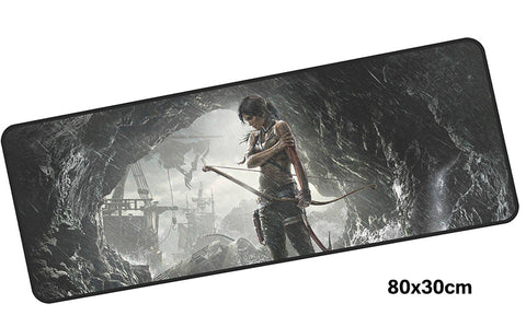 Tomb Raider Lara in a Cave Large Mouse Pad 800x300mm Best PC Gaming Pad HD Print