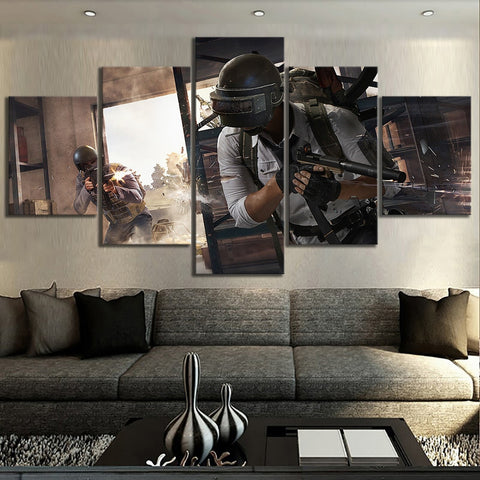 5 Panel PUBG Someones in Trouble Modern Décor Wall Art Canvas HD Print