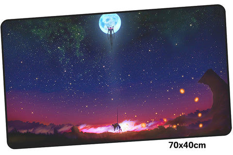 Neon Genesis Evangelion Full Moon Large Mouse Pad 700x400mm Best PC Gaming Pad HD Print