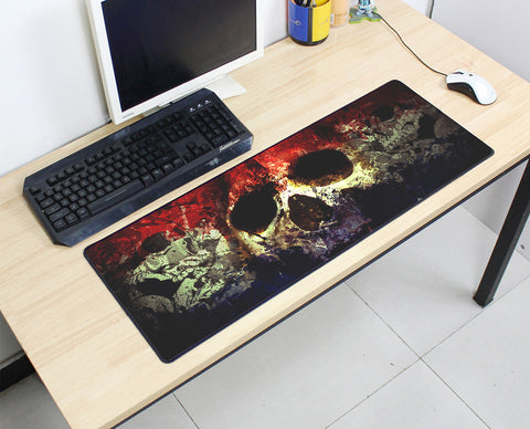 Large Skull Mouse Pad 800x300X3MM Best PC Gaming Mouse Pad HD Print