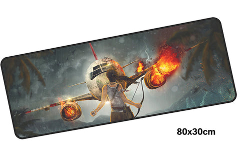 Tomb Raider Look out Lara Large Mouse Pad 800x300mm Best PC Gaming Mouse Pad HD Print