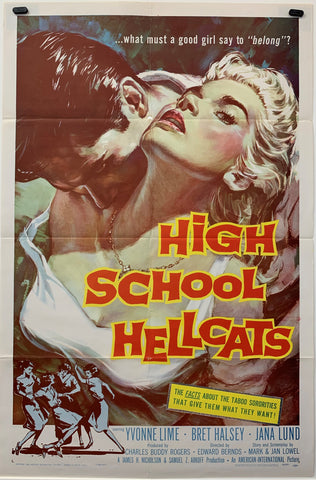 HIGH SCHOOL HELLCATS (1958) ORIGINAL MOVIE POSTER