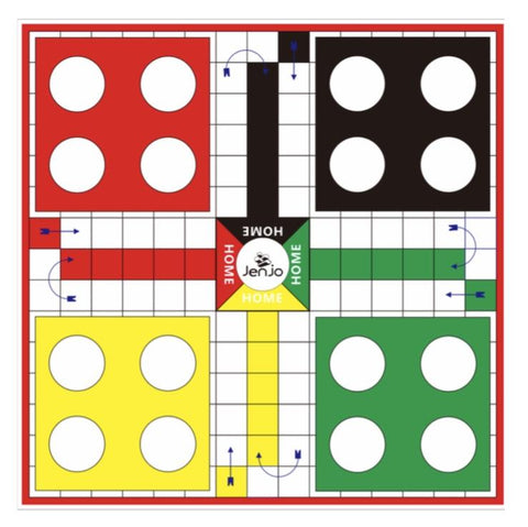 2 in 1 Giant Games Ludo & Backgammon 1.5 Mat