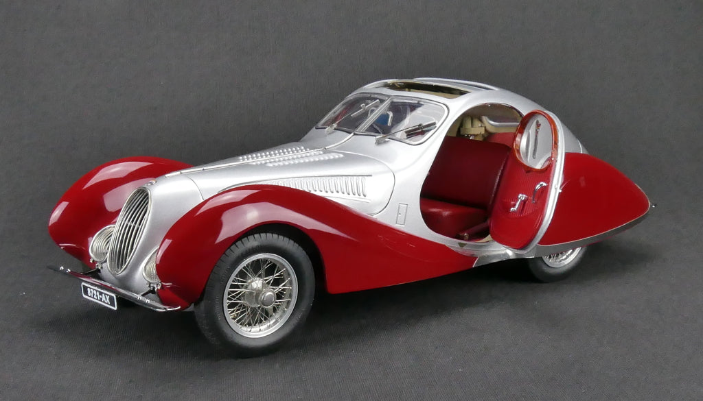 "CMC M-165 Talbot-Lago Coupe T150 C-SS Figoni & Falaschi ""Teardrop"" 1937-39 Silver/Red"