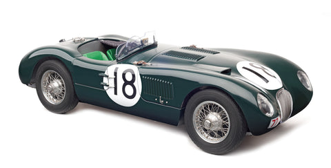 CMC M-195 - Jaguar C-Type,1953, (British Racing Green) 24H France WINNER #18