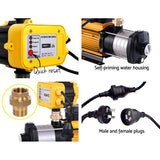 Giantz Multi Stage Water Pump Pressure Rain Tank Garden Farm House Irrigation 2000W Yellow Controller