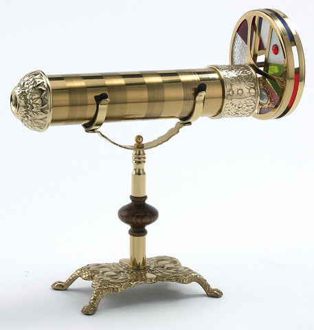 Brass Dual Rainbow Mirror Kaleidoscope