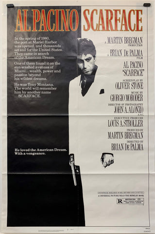 SCARFACE (1983) ORIGINAL MOVIE POSTER