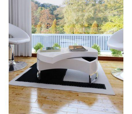 Shape-Adjustable Coffee Table High Gloss