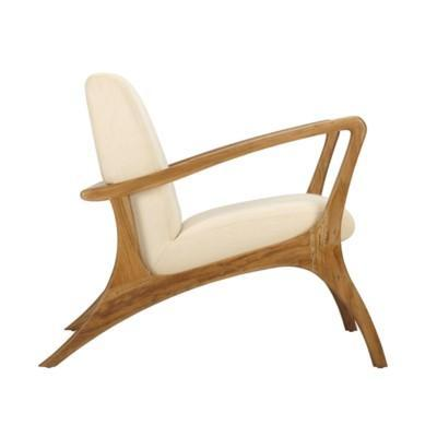 Soren Ventura Lounge Chair Teak, Indoor- Grey Wash Teak with rice fabric