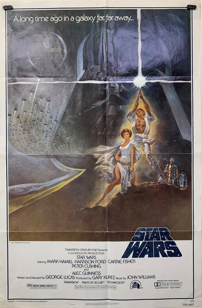 STAR WARS (1977) ORIGINAL MOVIE POSTER - Style A