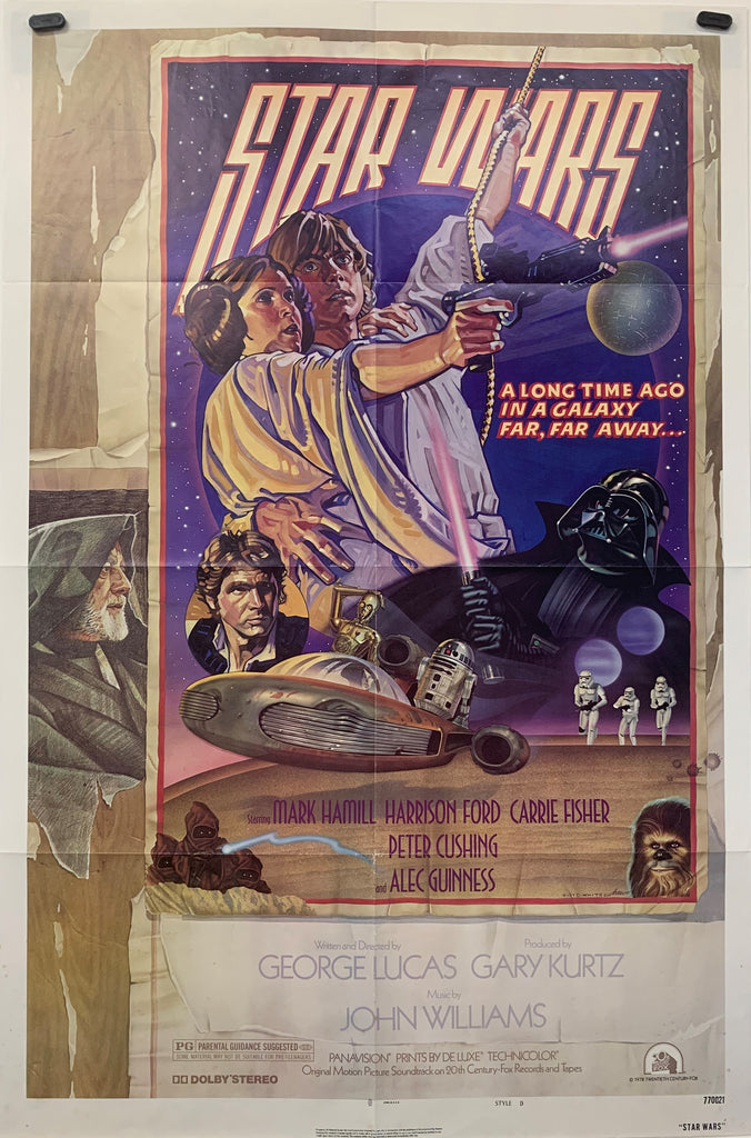 STAR WARS (1977) ORIGINAL MOVIE POSTER