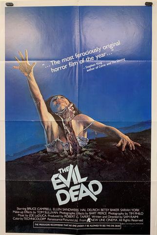THE EVIL DEAD (1981) ORIGINAL MOVIE POSTER
