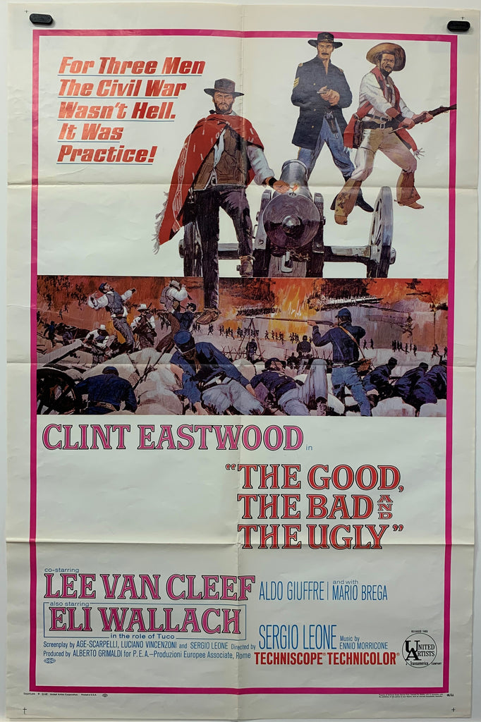 THE GOOD, THE BAD & THE UGLY (1968) ORIGINAL MOVIE POSTER