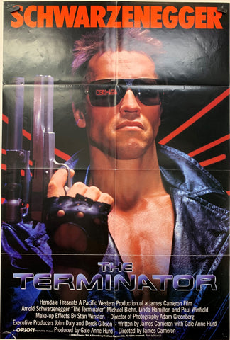 THE TERMINATOR (1984) ORIGINAL MOVIE POSTER