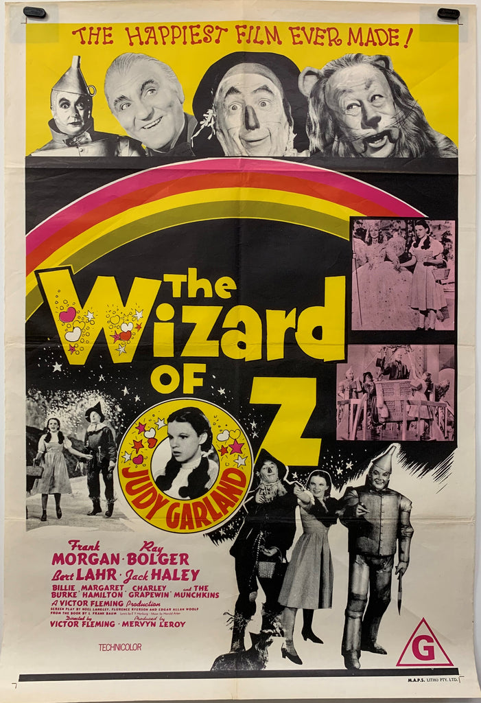 THE WIZARD OF OZ (1970) ORIGINAL MOVIE POSTER