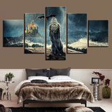 5 Panel Game Of Thrones Dragon Mother Khaleesi Modern Décor Wall Canvas HD Print