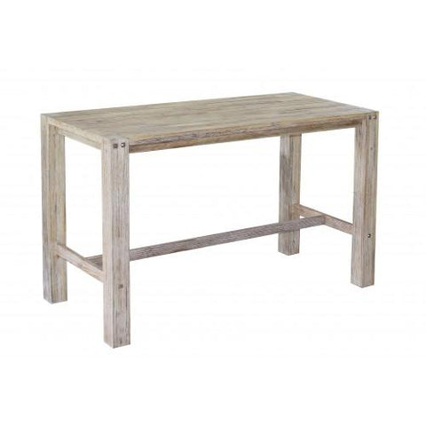 Sturdy 1.8 Metre Bar Table Grey Brush Finish