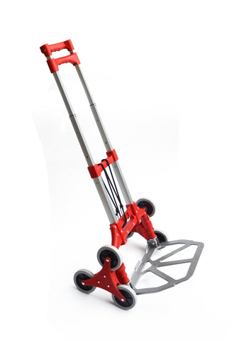 Stair Climbing Trolley 6 Wheels Aluminium Folding Hand Cart Climb Steps
